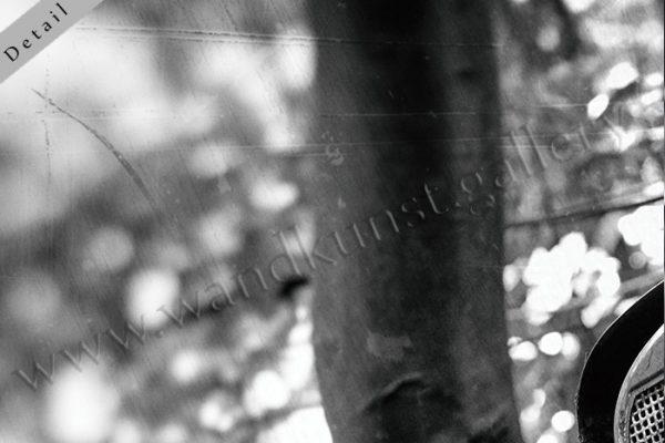 Hier sieht man einen Bildausschnitt 6, obere linke Bildecke. Schwarz weiss, vintage.