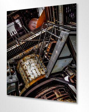 Kunst und Industrie im Wohnzimmer. Wandekoration im XXL Format. Die künstlerische Seite gewesener Produktionsstätten der Schwerindustrie am Beispiel eines Hochofens.